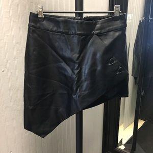 Nasty Gal black pleather skirt.